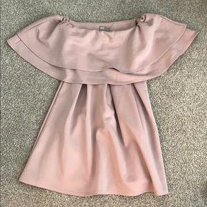 ASOS off-the-shoulder lilac dress
